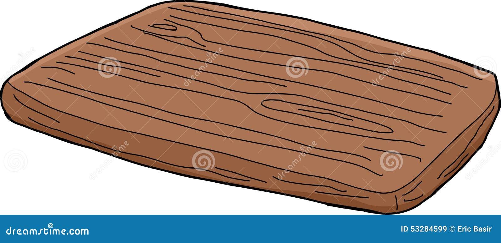 Cartoon Wood Board ~ Isolated cutting board cartoon stock illustration image