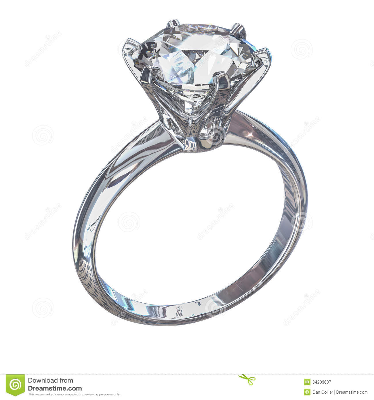 Isolated Diamond Ring Illustration Stock Illustration Illustration