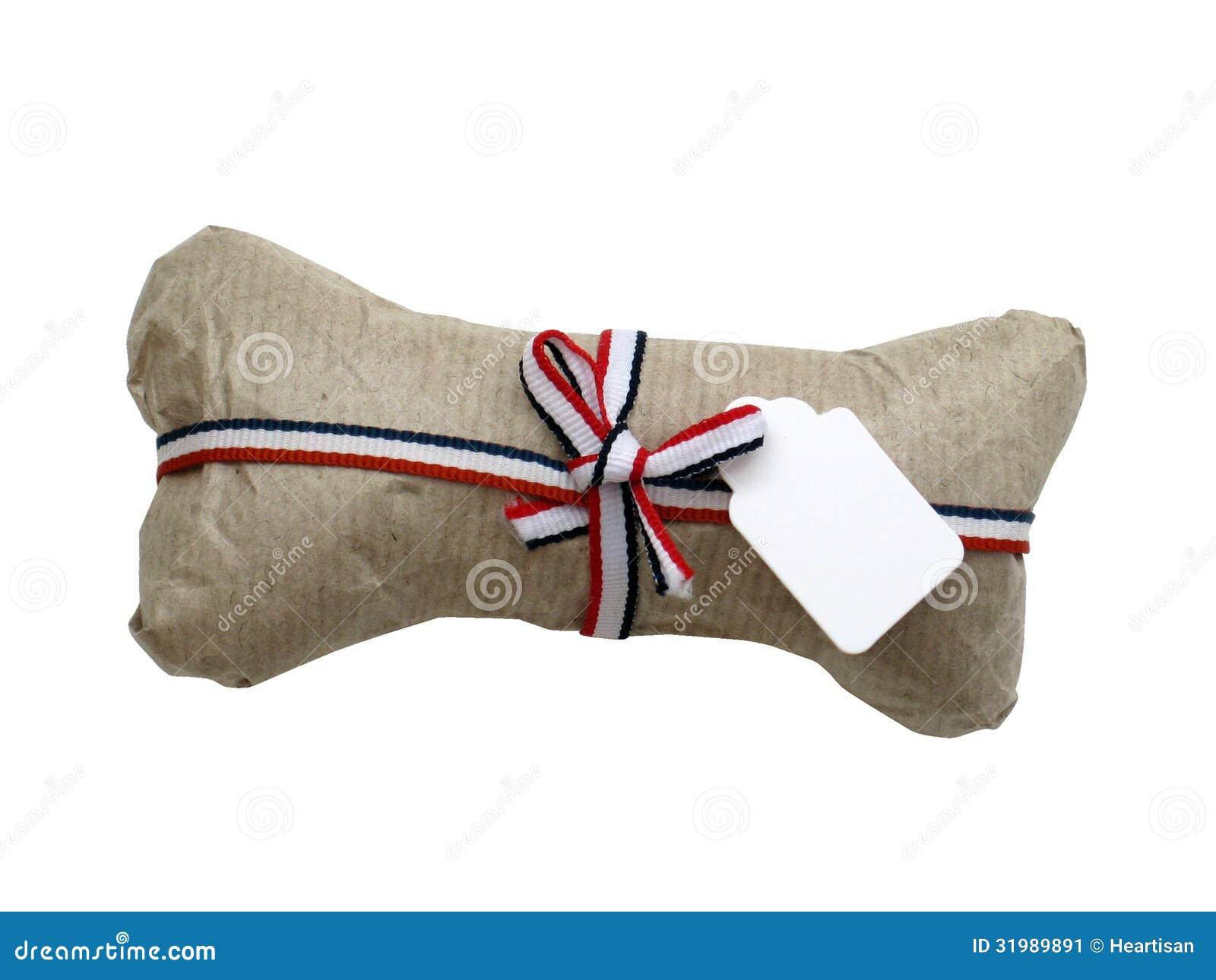 Isolated Dog Bone Gift Wrapped Stock Image Image 31989891