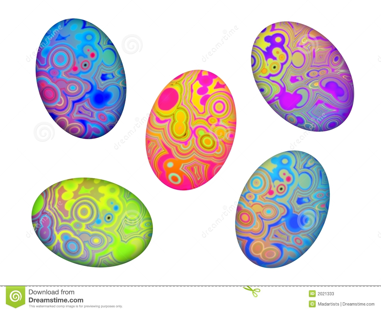 Isolated Easter Eggs Clip Art Stock Photos - Image: 2021333