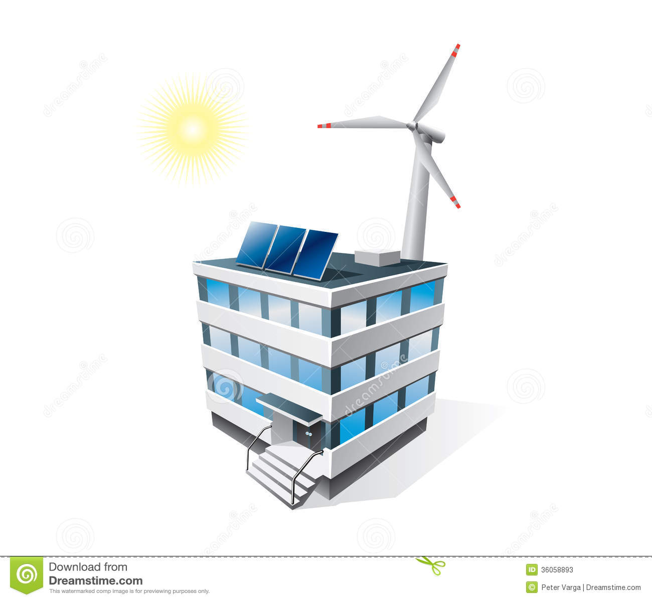 Isolated Eco Office Building Stock Photos Image 36058893