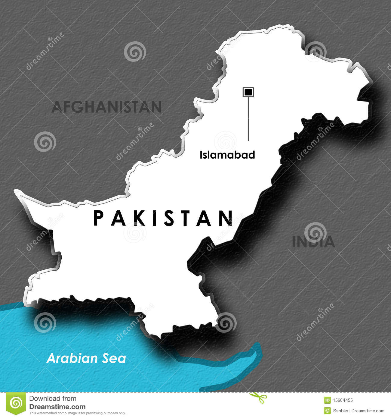 Isolated embossed map of pakistan royalty free stock photo for 3d wallpaper for home in pakistan