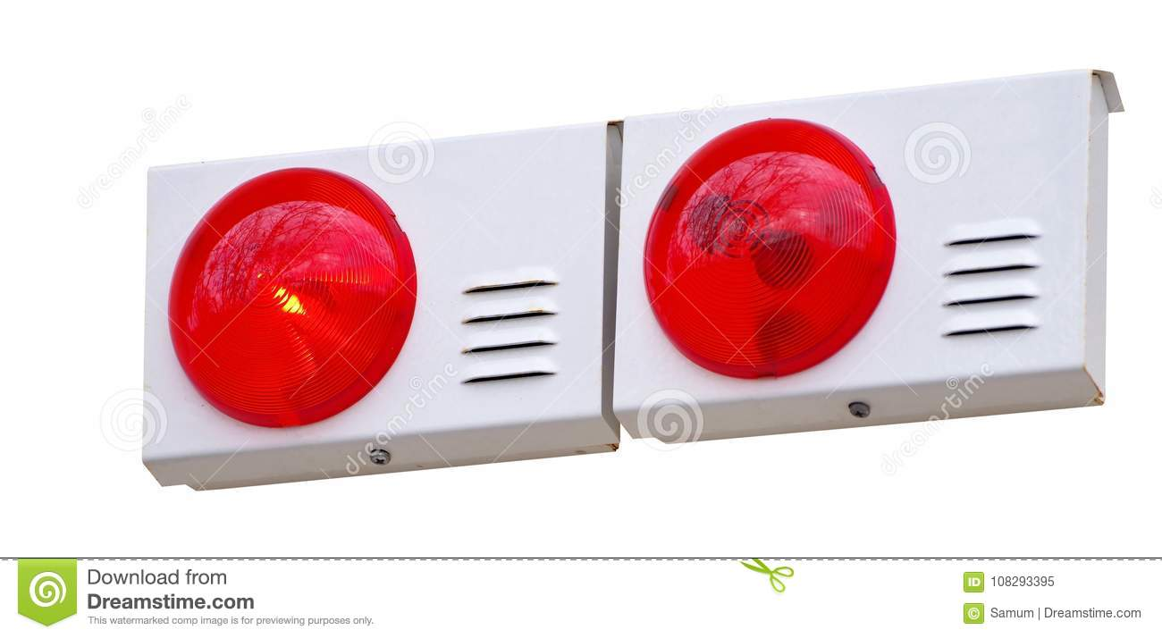 Isolated Emergency Lamp Stock Image Of 108293395 Light And Alarm Wall Panel Speaker Sound On White Background