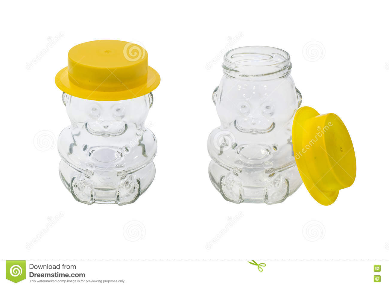 isolated empty honey jar stock image image of isolated 78252579