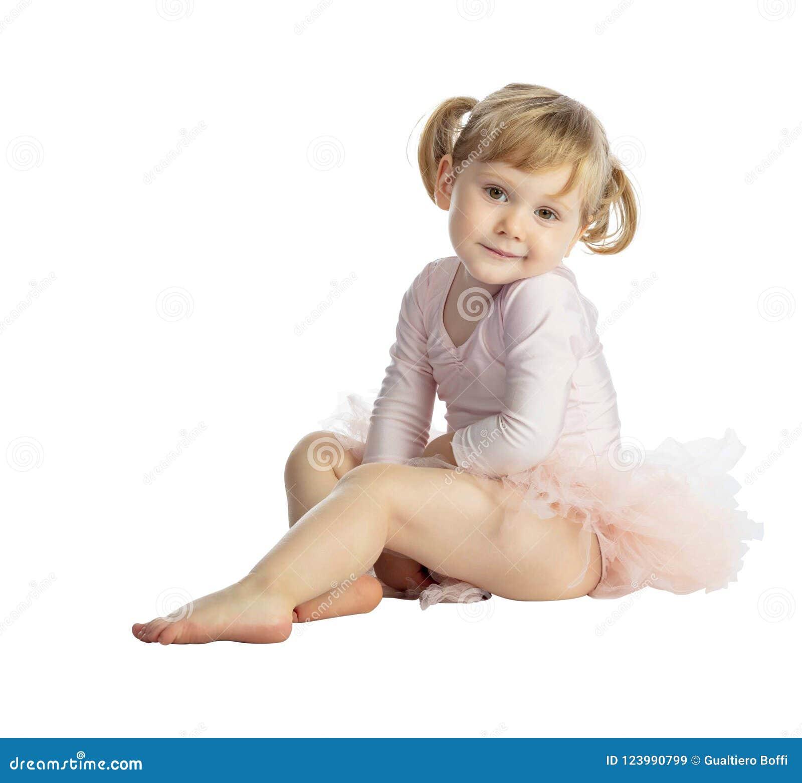 ff9ae8fe320b72 Isolated Female Child With Tutu Stock Image - Image of grace ...