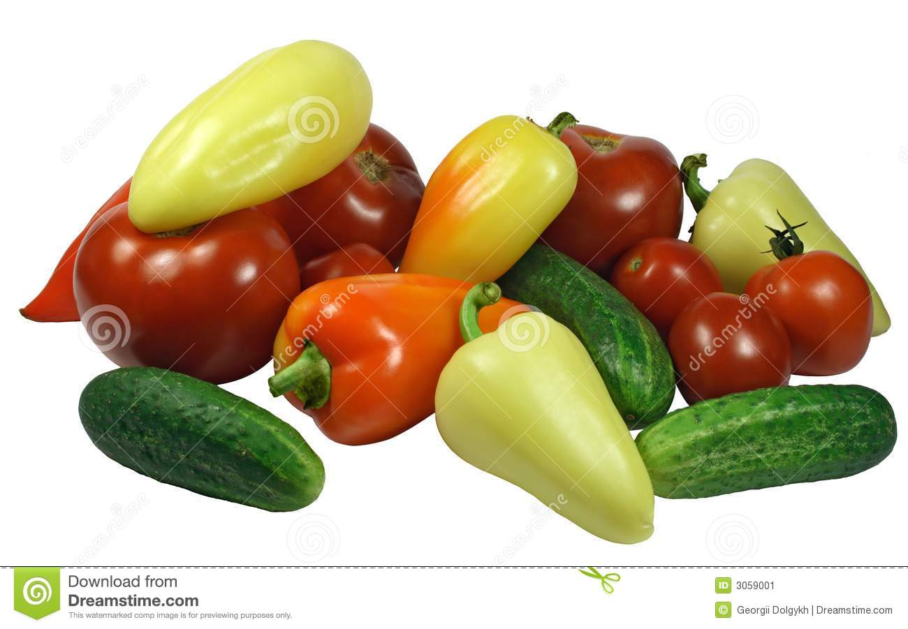 Isolated Fresh Vegetables stock image. Image of pepper ...