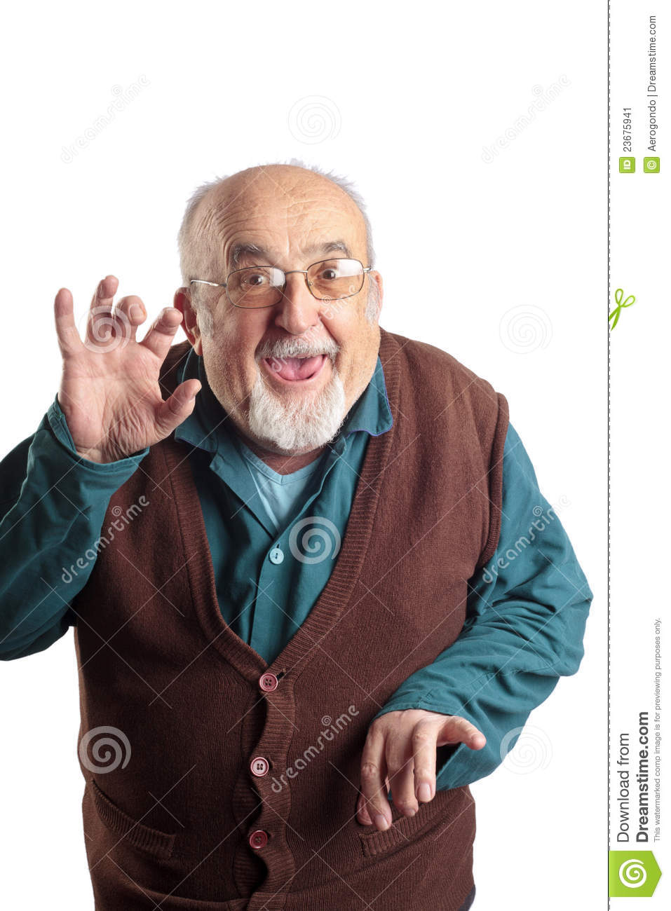 Isolated Funny Old Man Stock Image Image 23675941
