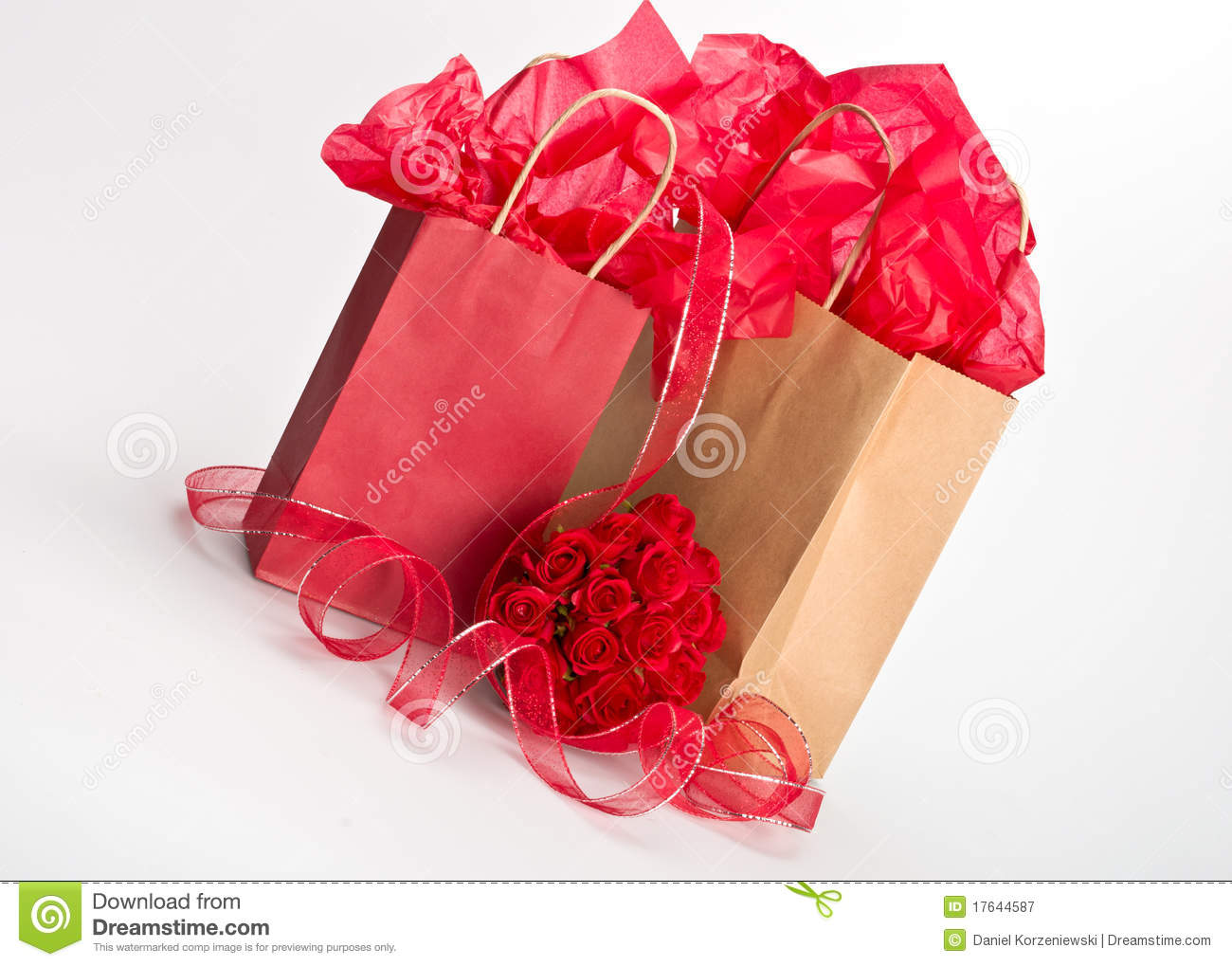 Isolated gift bags