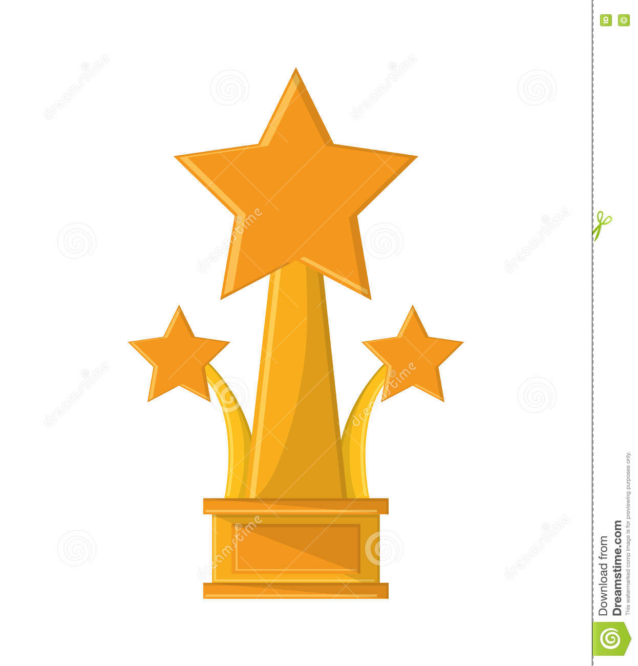 Isolated Gold Trophy With Star Design Stock Vector