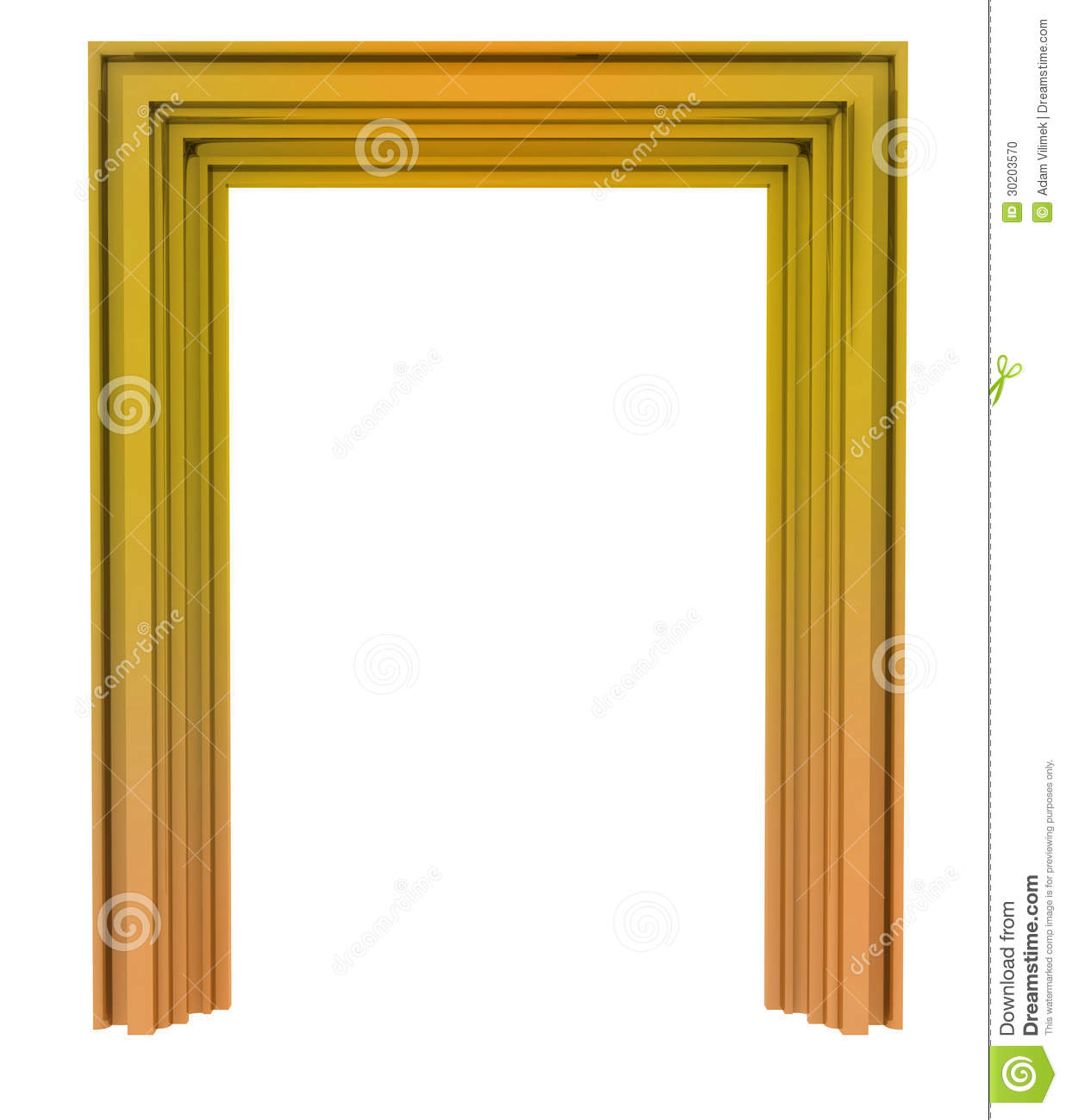 Door Frame Decoration isolated golden decorative door frame stock photo - image: 30203570