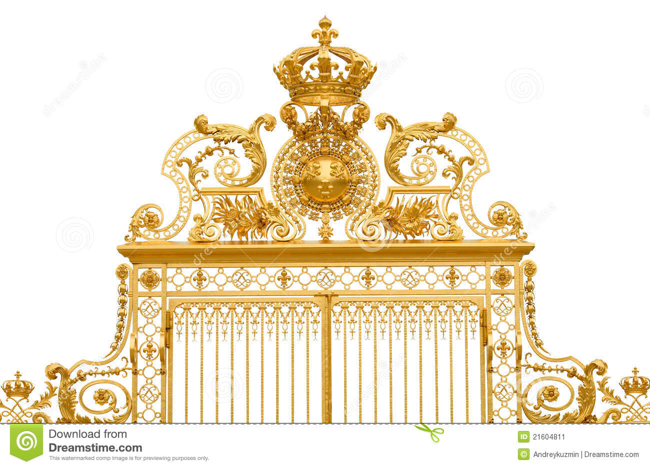 Isolated golden... Gates Of Heaven Design