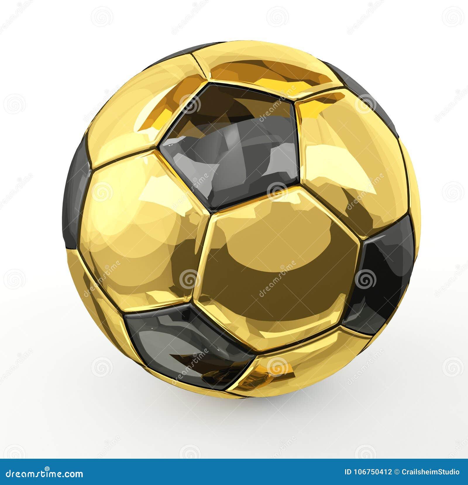 dc5a426af Isolated golden metallic 3d rendering soccer football ball illustration  design