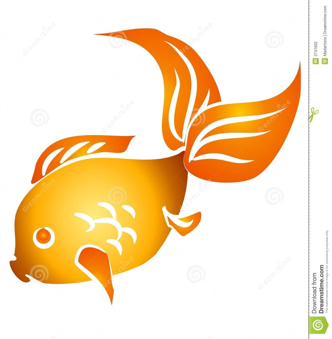 isolated goldfish clip art stock illustration illustration of rh dreamstime com goldfish clipart images clipart goldfish black and white