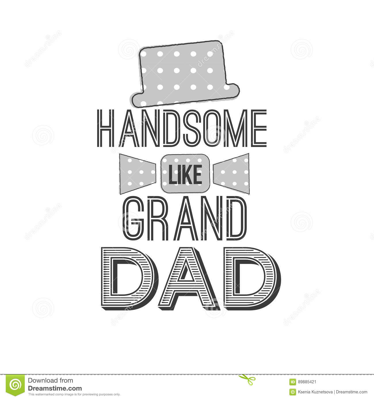 isolated grandparents day quotes on the white background handsome