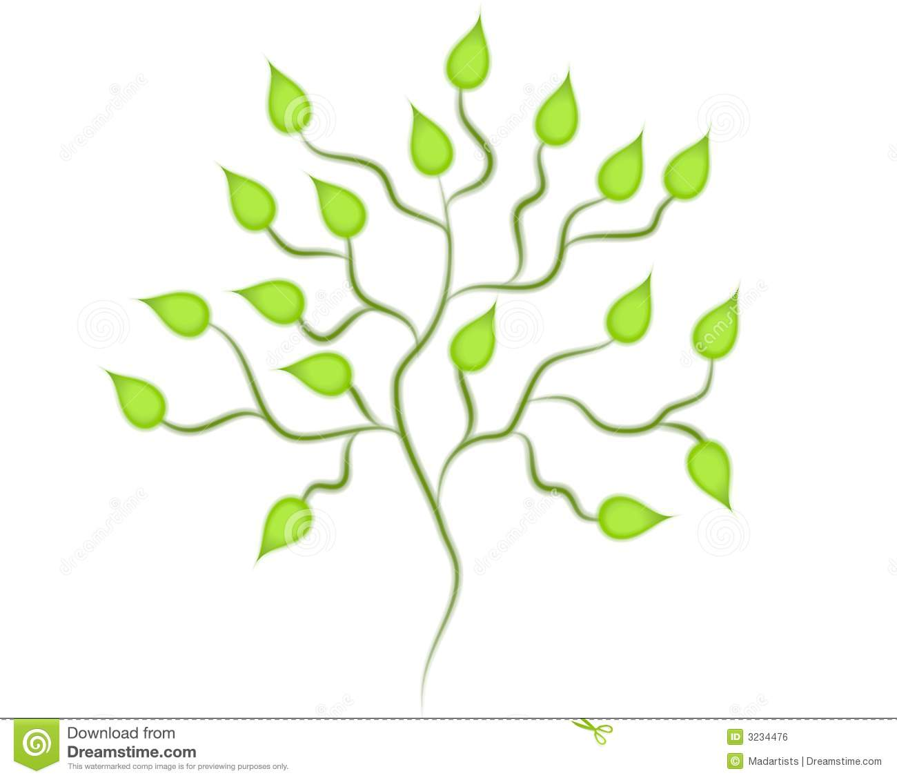 Isolated Green Tree Clip Art Stock Illustration ...