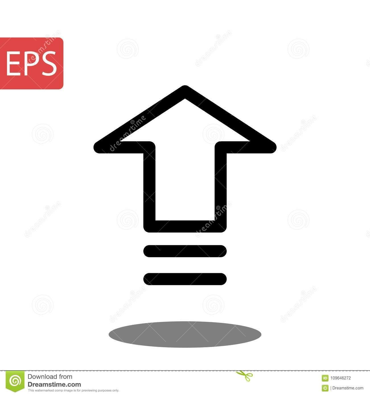Isolated On Grey Background Arrow Symbol For Your Web Site Design