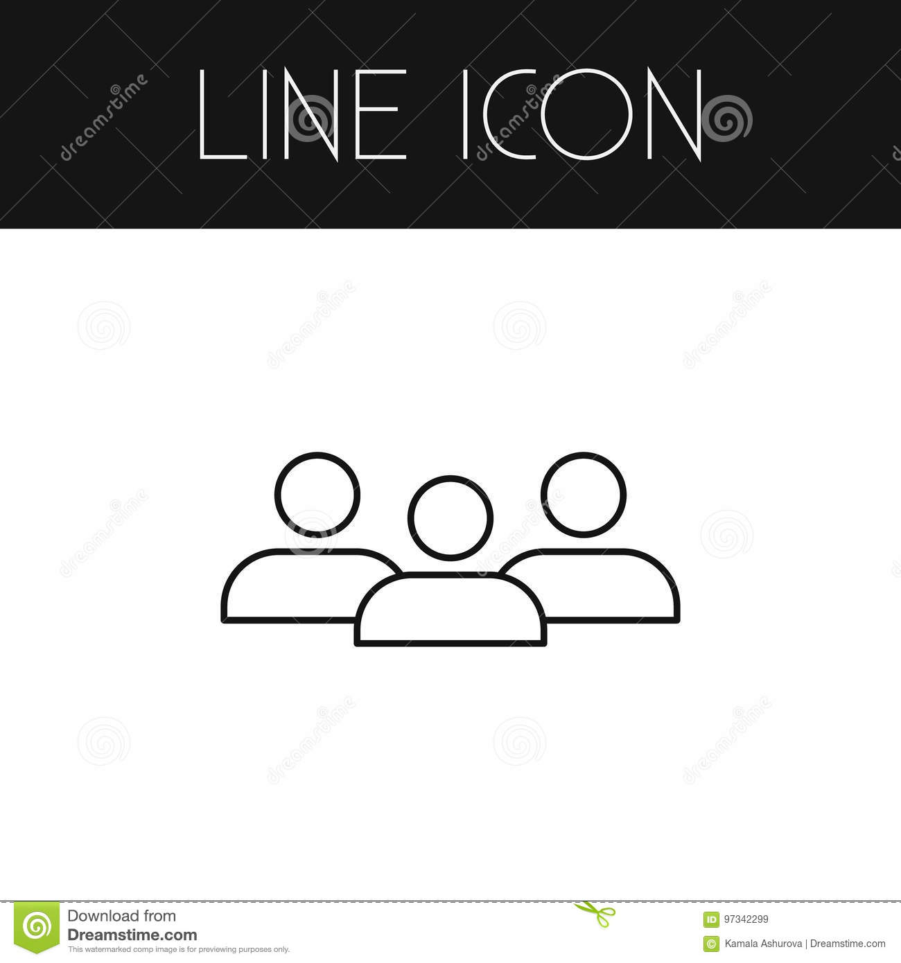 Isolated Group Outline  Staff Vector Element Can Be Used For Group