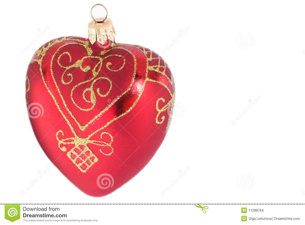 Isolated heart shaped christmas decoration stock images for Heart shaped decorations home