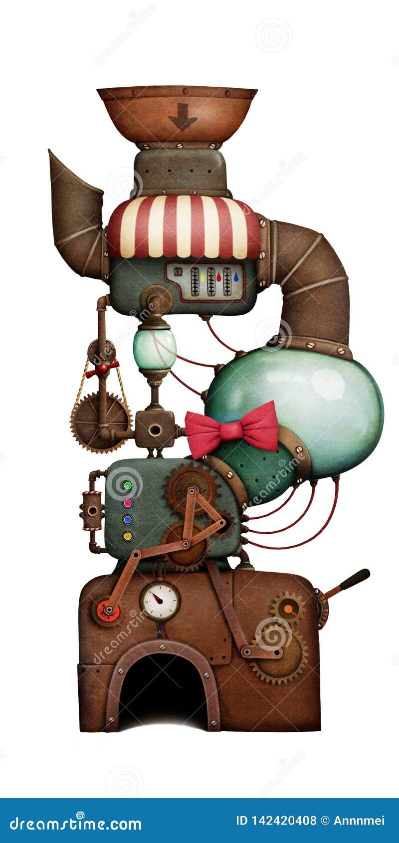 Isolated Holiday Machine