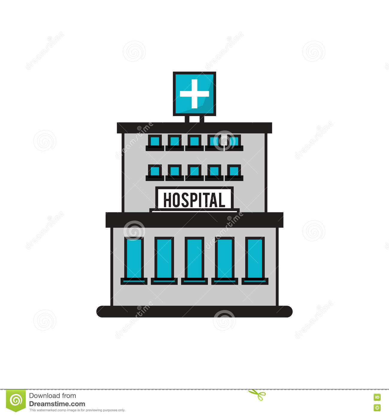 Clinic cartoons illustrations vector stock images for Hospital building design