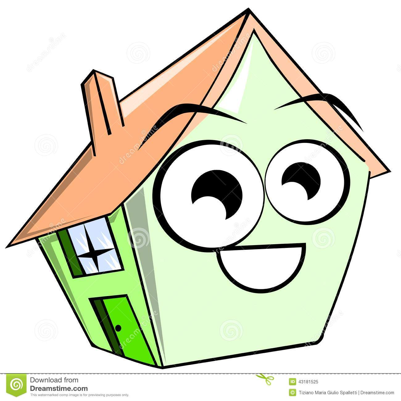 Illustration representing a house in a cartoon version. Image usable ...