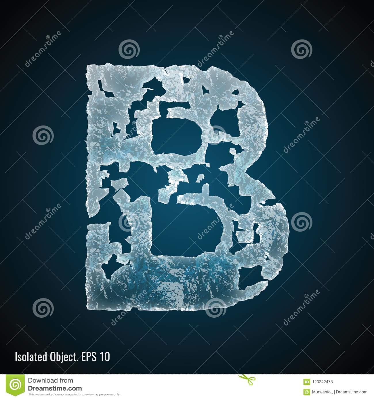 Ice Font of Letter B