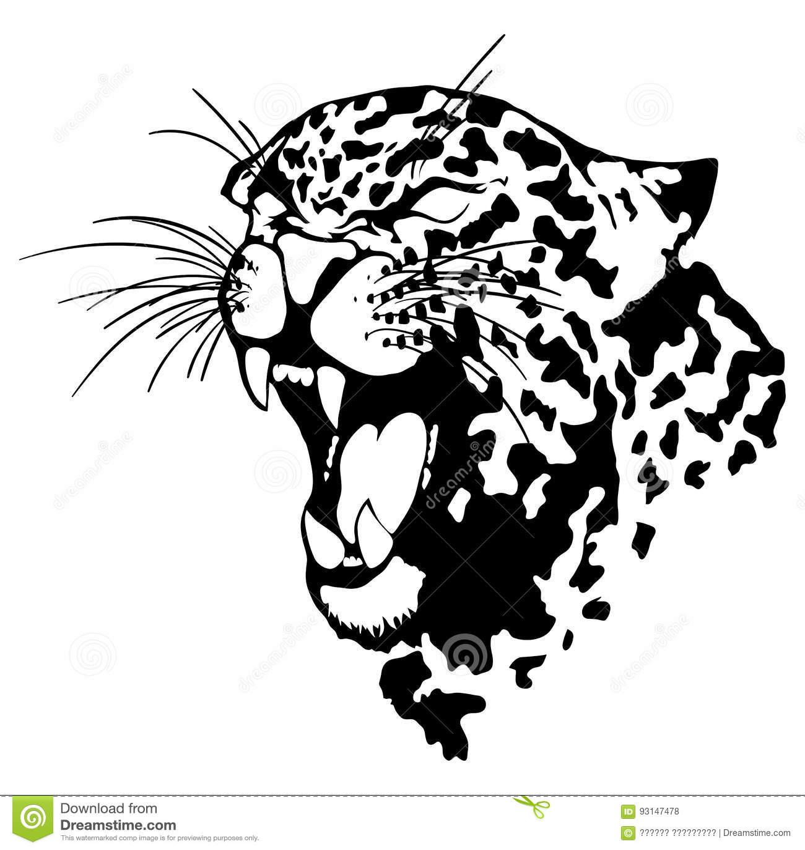 Drawn Jaguar Jaguar Head - Auto Electrical Wiring Diagram on