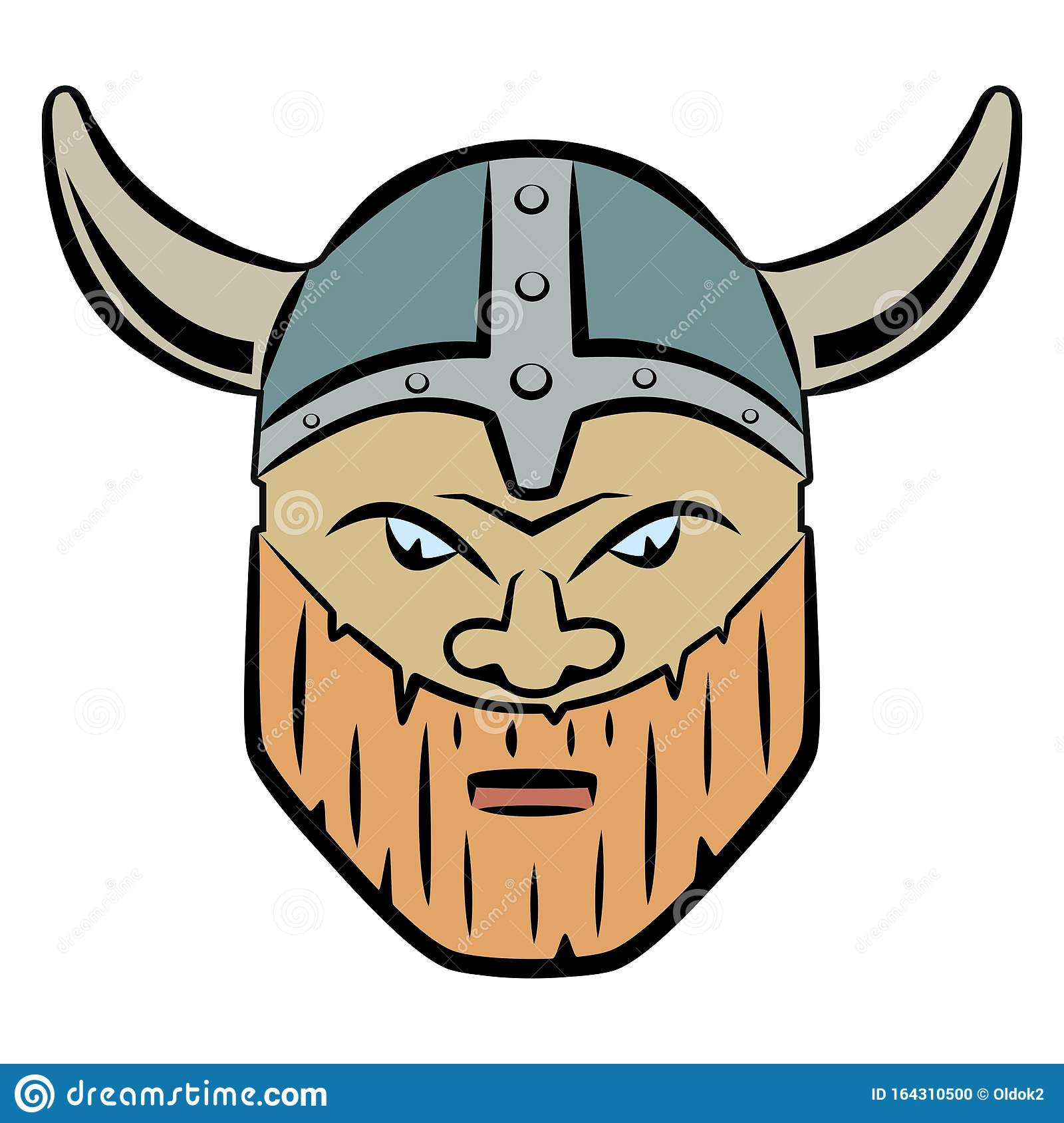 Isolated Illustration Of A Viking, Head, Vector Draw Stock ...