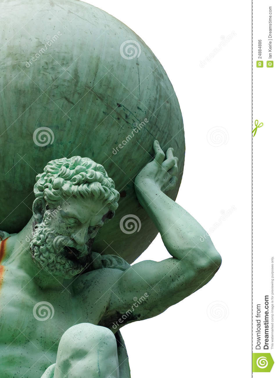 Isolated Image Of The God Atlas Stock Photo Image Of
