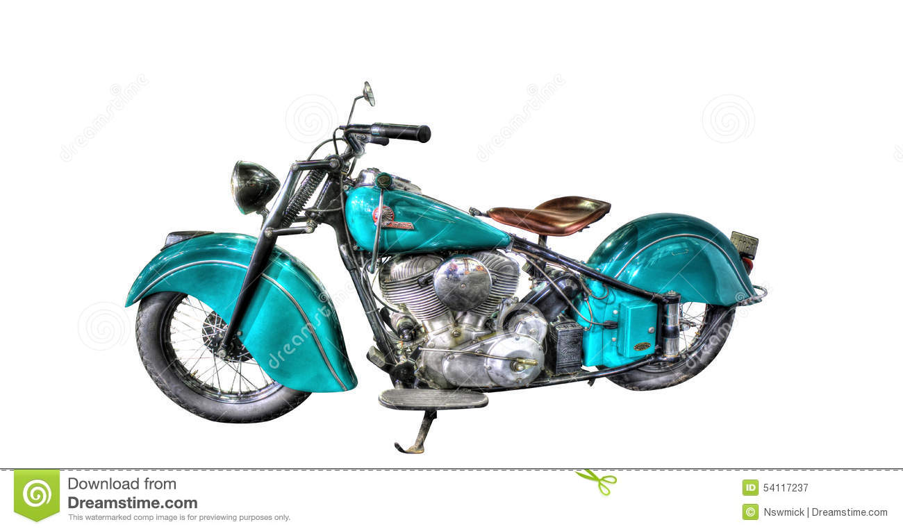 Isolated Indian Motorcycle On A White Background