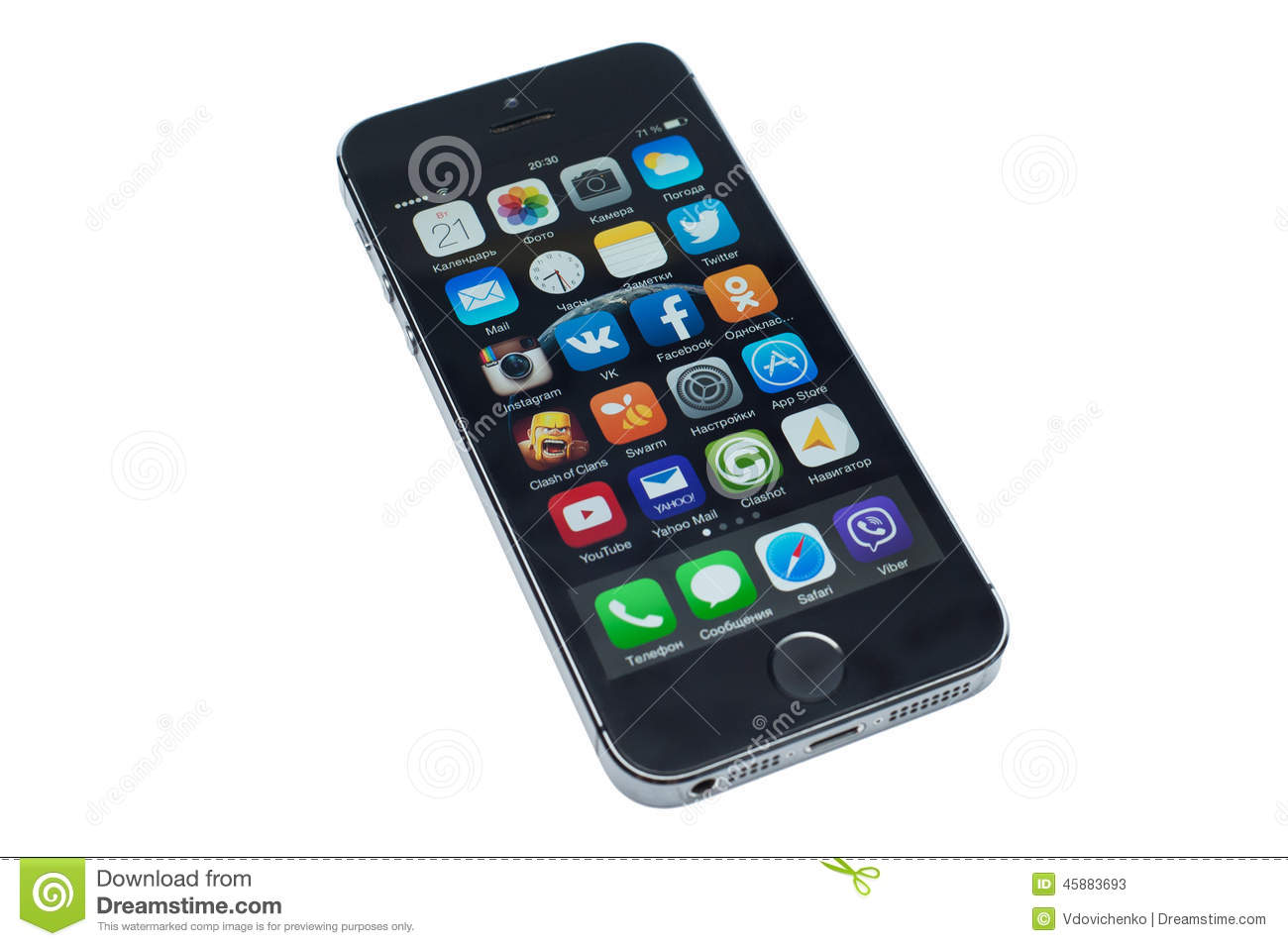 isolated iphone 5s editorial stock photo   image 45883693