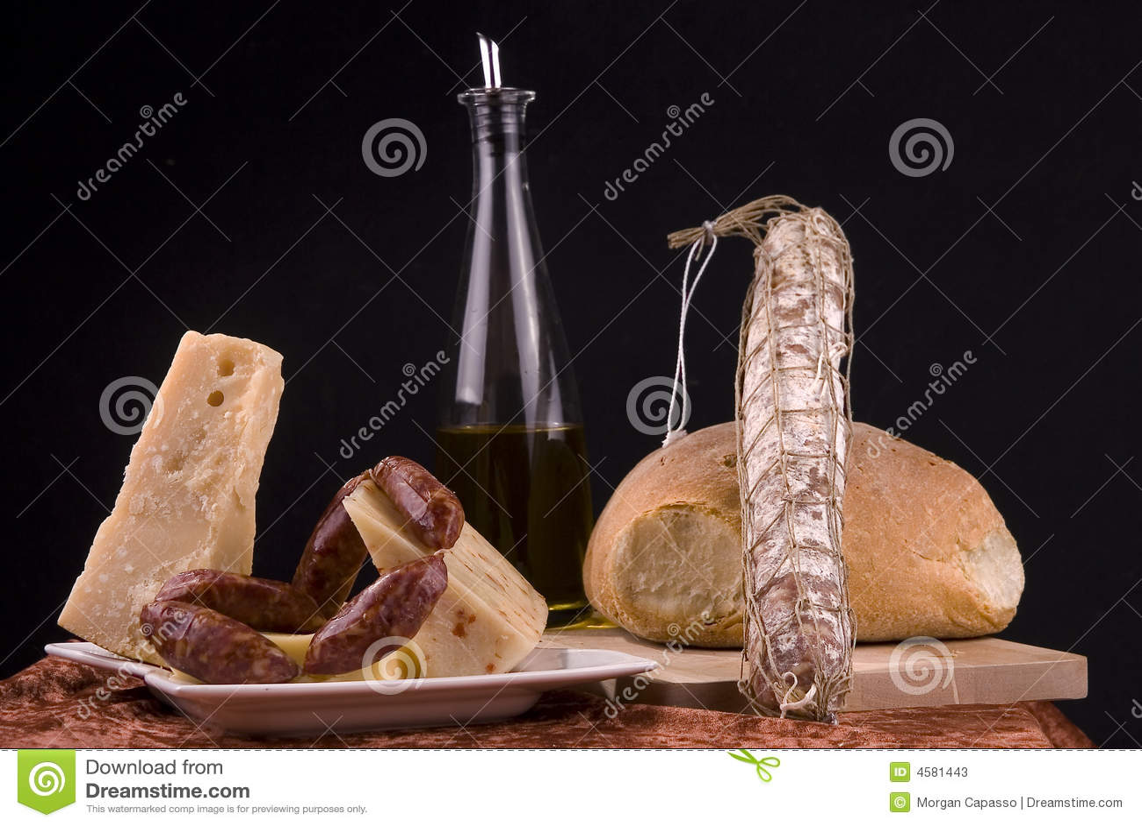 Isolated Italian Food