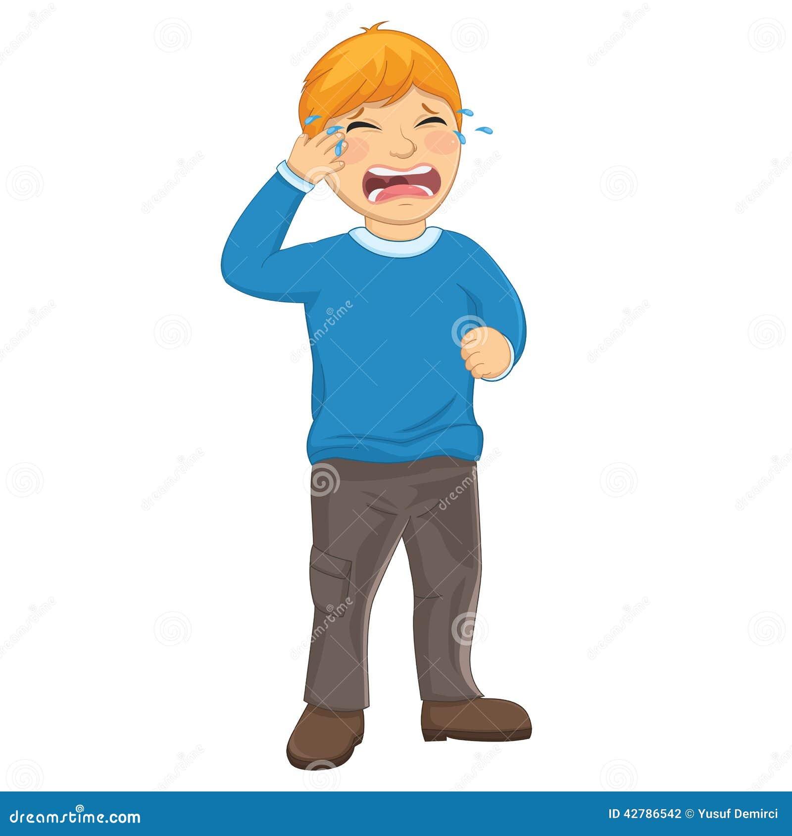 Isolated Kid Crying Vector Illustration Stock Illustration - Image ...
