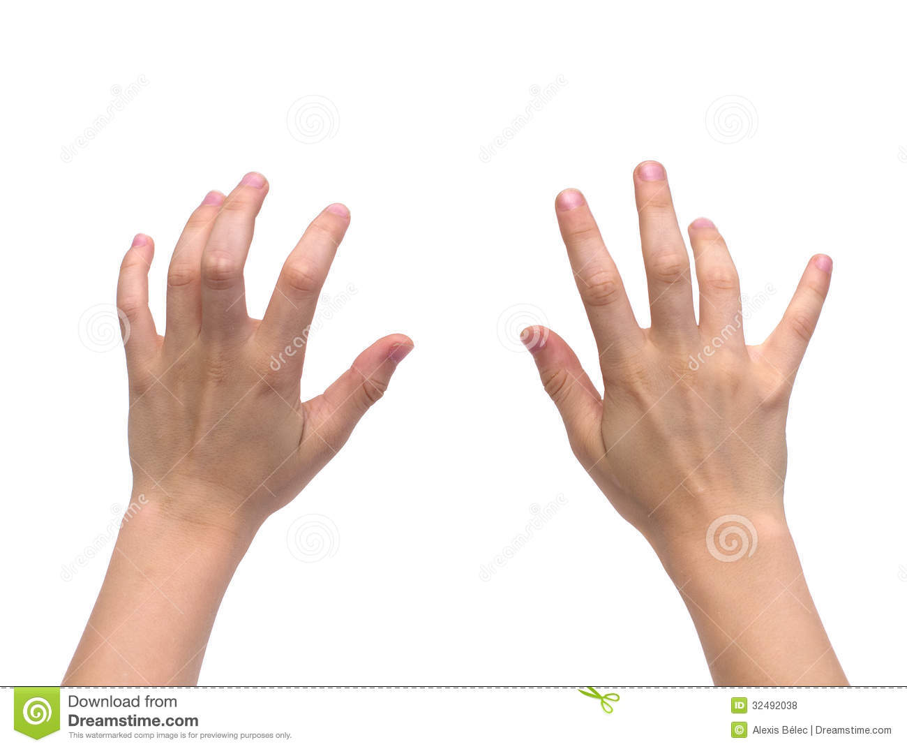 Isolated Kid Hands Royalty Free Stock Photos - Image: 32492038