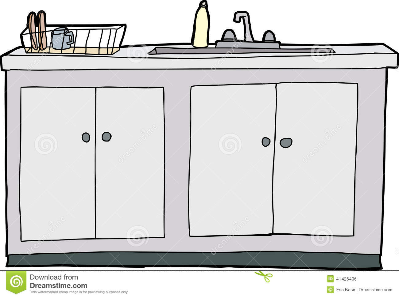Isolated Kitchen Sink Stock Vector Image 41426406