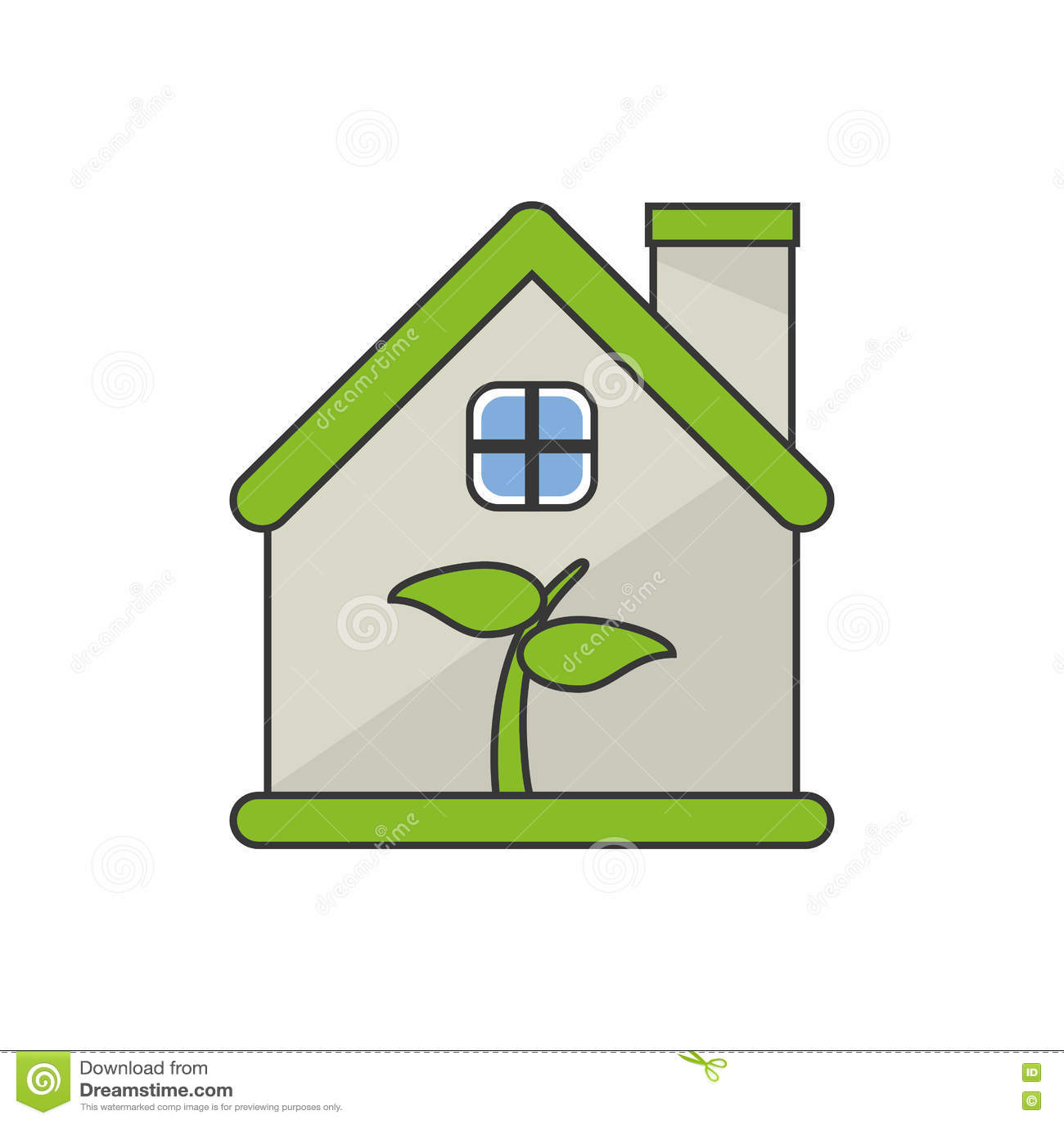 Fantastic Isolated Leaf Inside House Design Stock Vector Download Free Architecture Designs Scobabritishbridgeorg