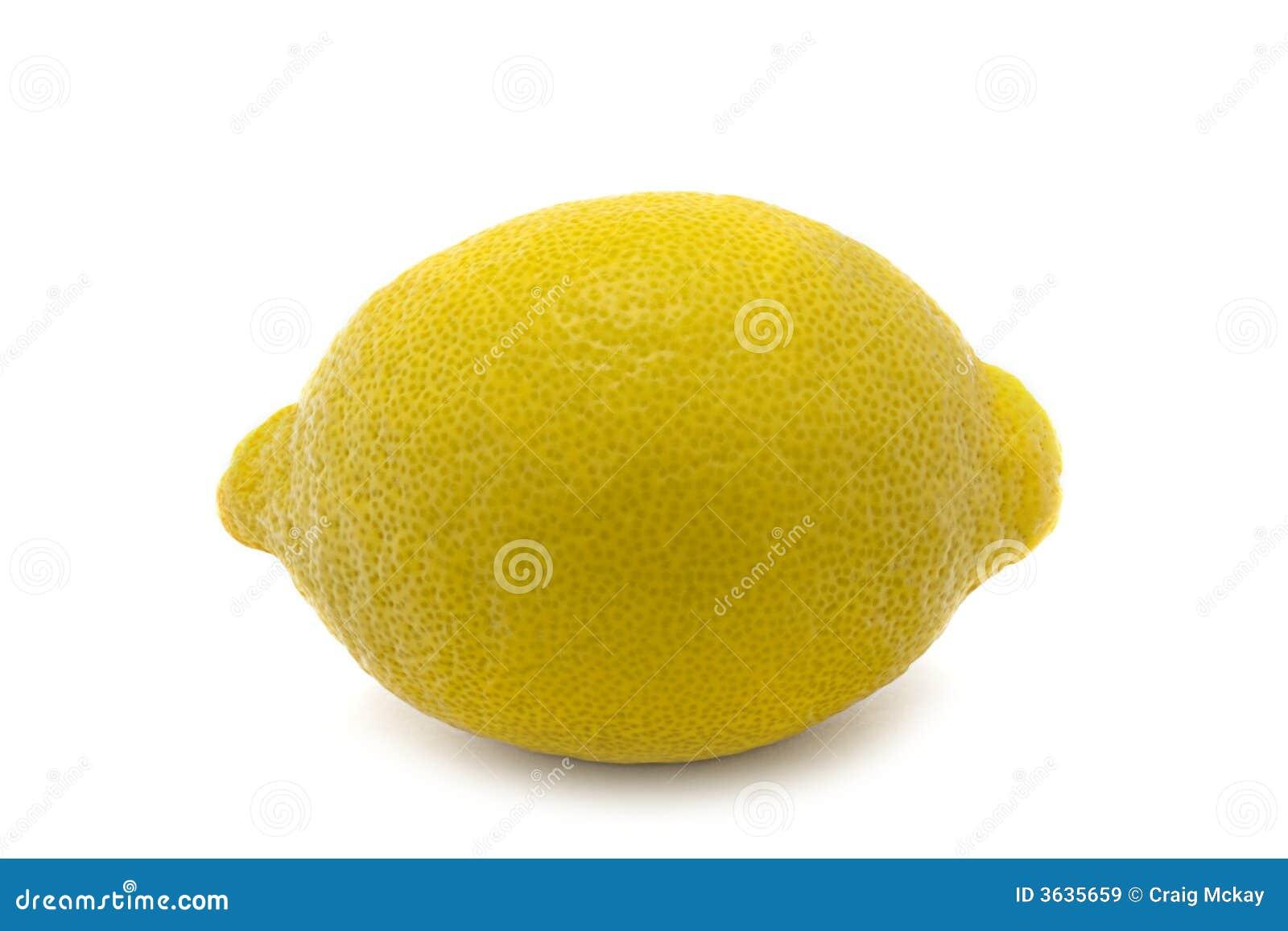 Isolated lemon whole