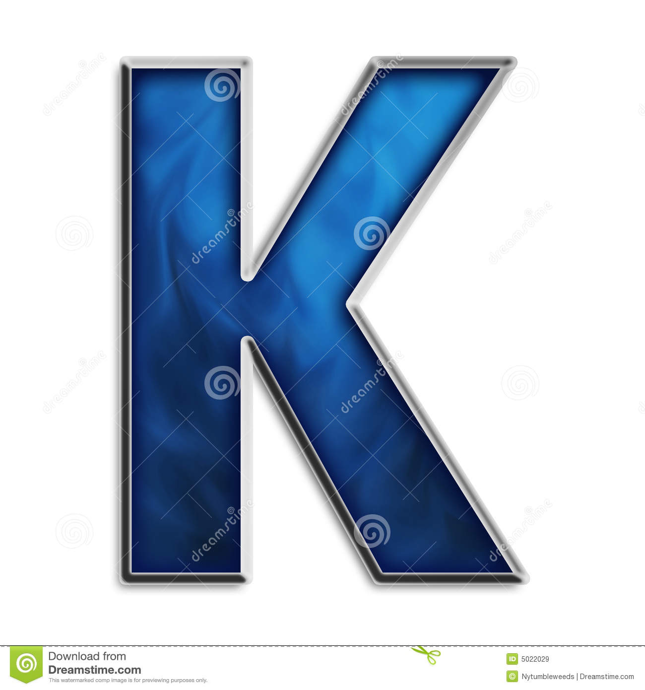 Isolated Letter K In Tribal Blue Royalty Free Stock Images ...