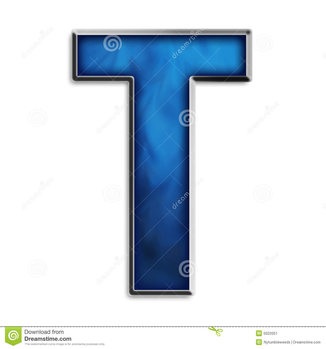 Fire Logo With Letter P: Isolated Letter T In Tribal Blue Stock Illustration