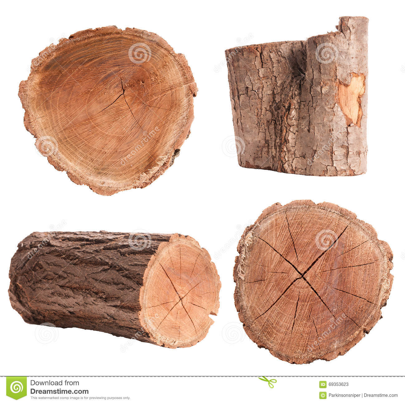 Isolated Log Set Stock Image Image Of Wooden View