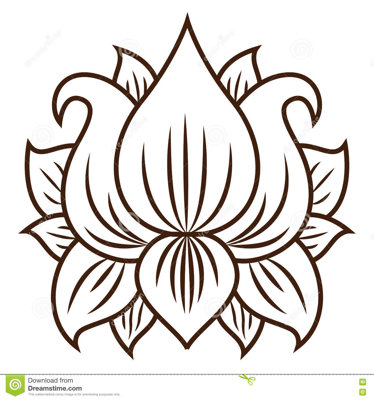 Isolated Lotus Flower Design Stock Vector Illustration Of Botany
