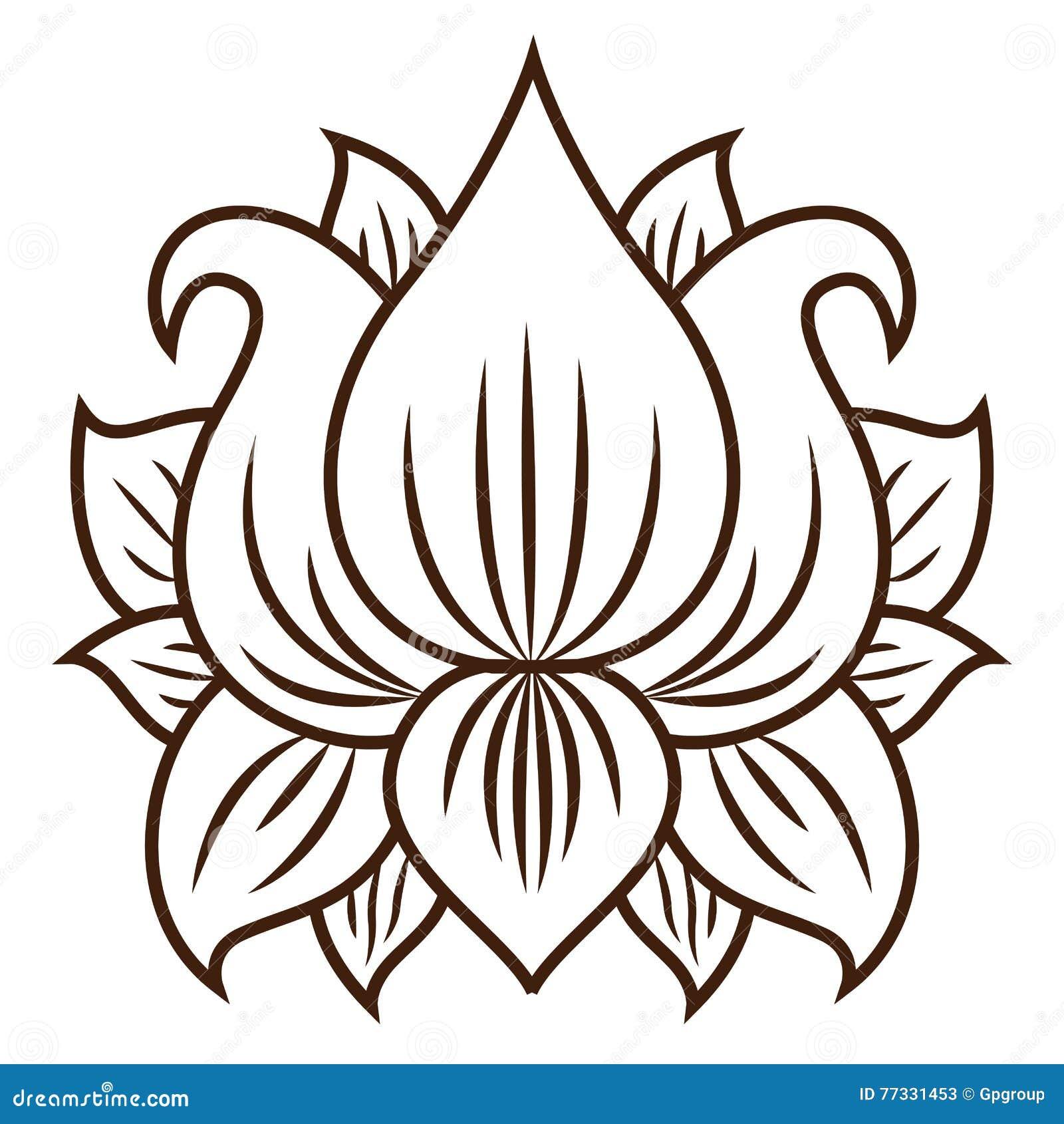 Isolated lotus flower design stock vector illustration of botany isolated lotus flower design izmirmasajfo