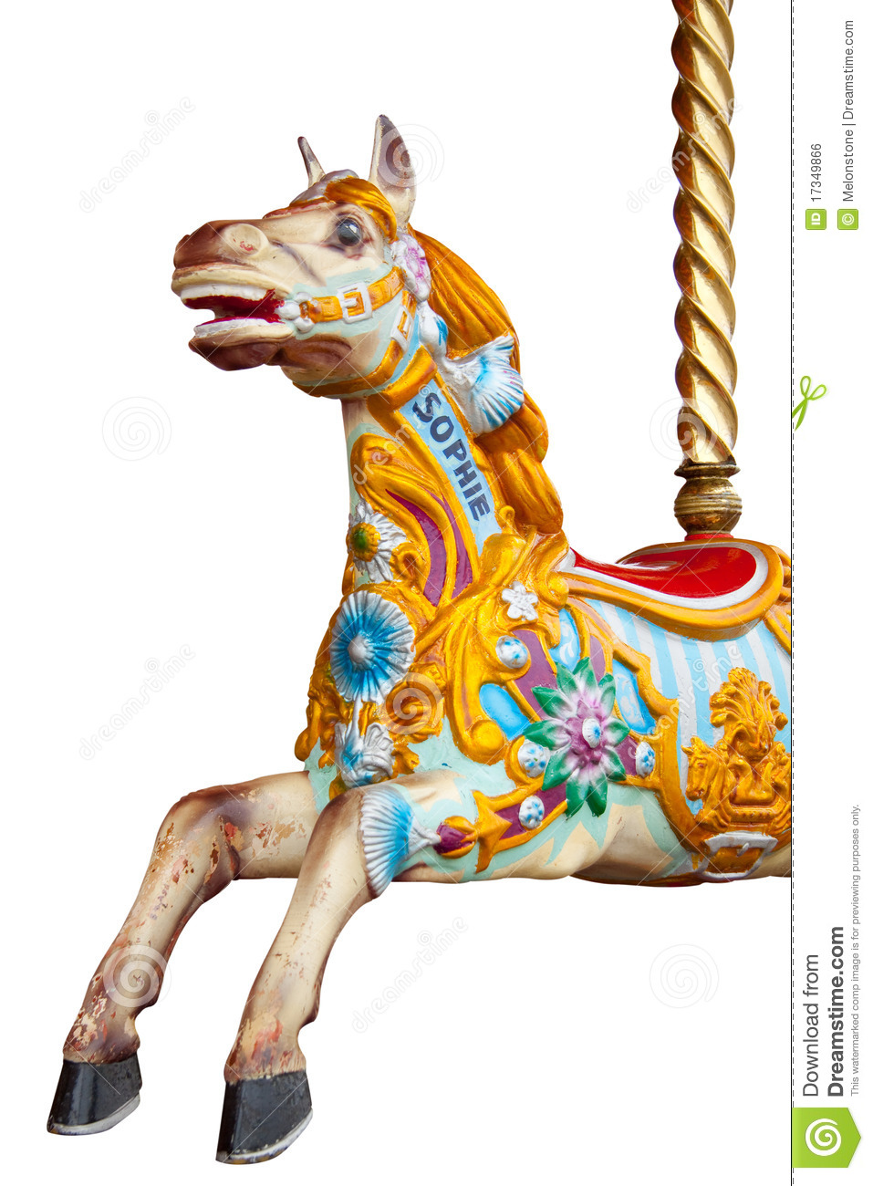 Go To Www Bing Comhella Www Bing Com: Isolated Merry-go-round Horse Royalty Free Stock Image