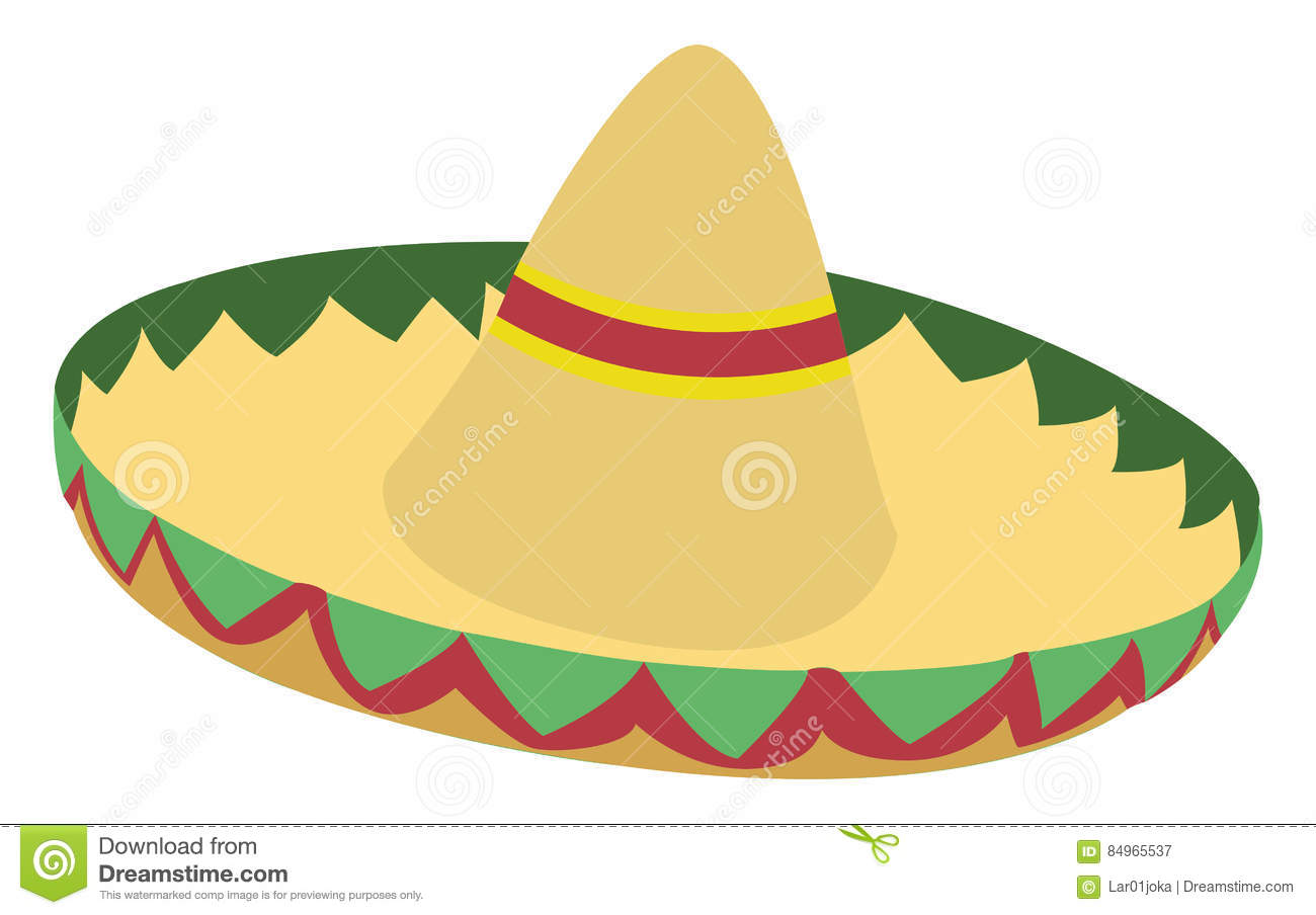 Isolated Mexican Hat Stock Vector Illustration Of Mexican 84965537