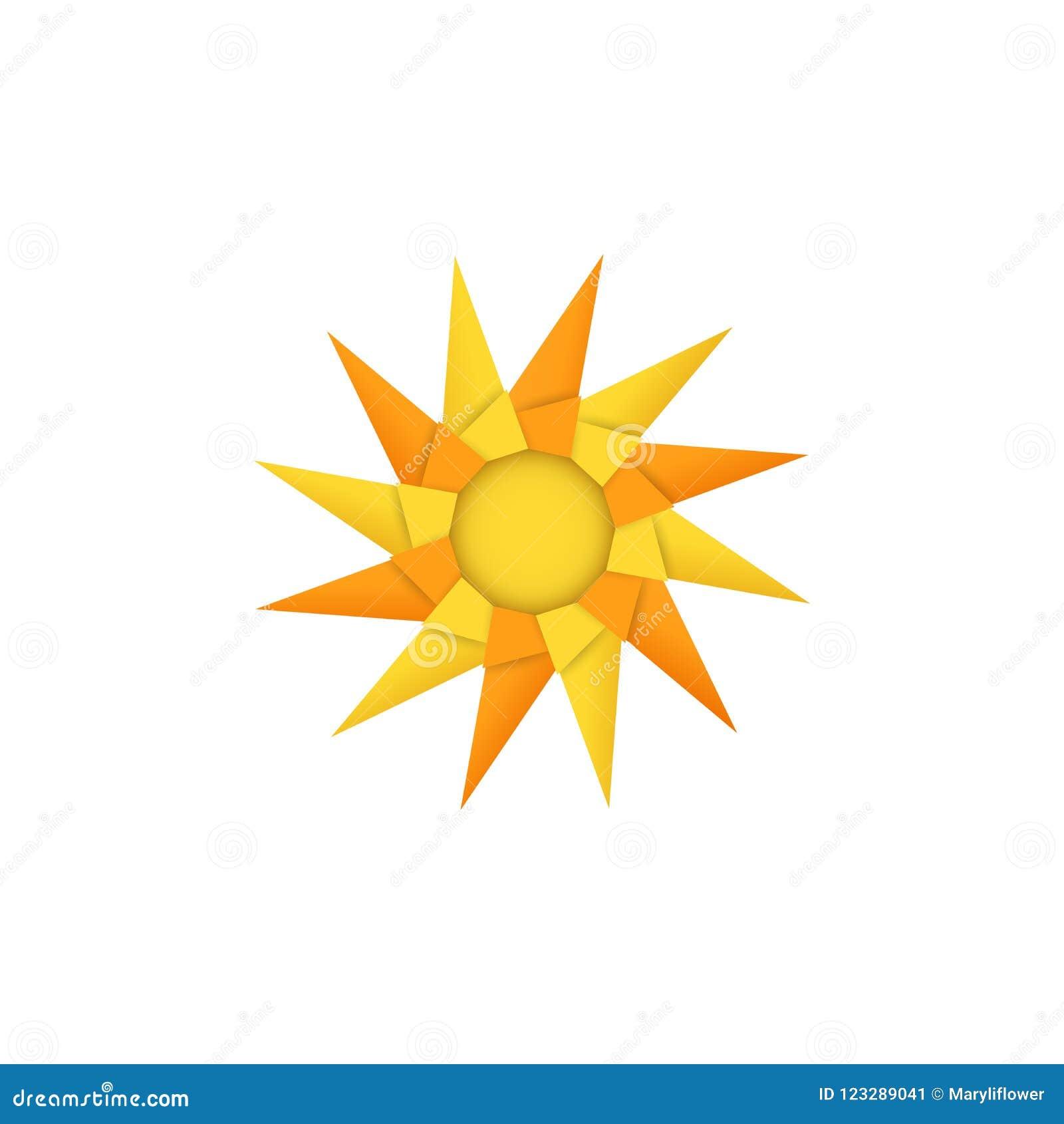 Isolated Modular Origami Pinwheel Toy or Sun on White Background ...