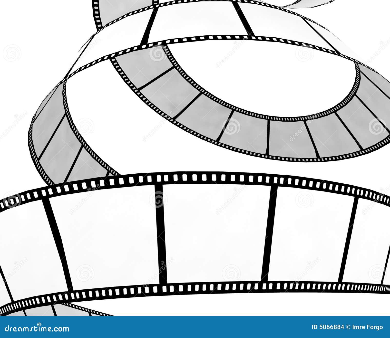 Isolated movie/photo film