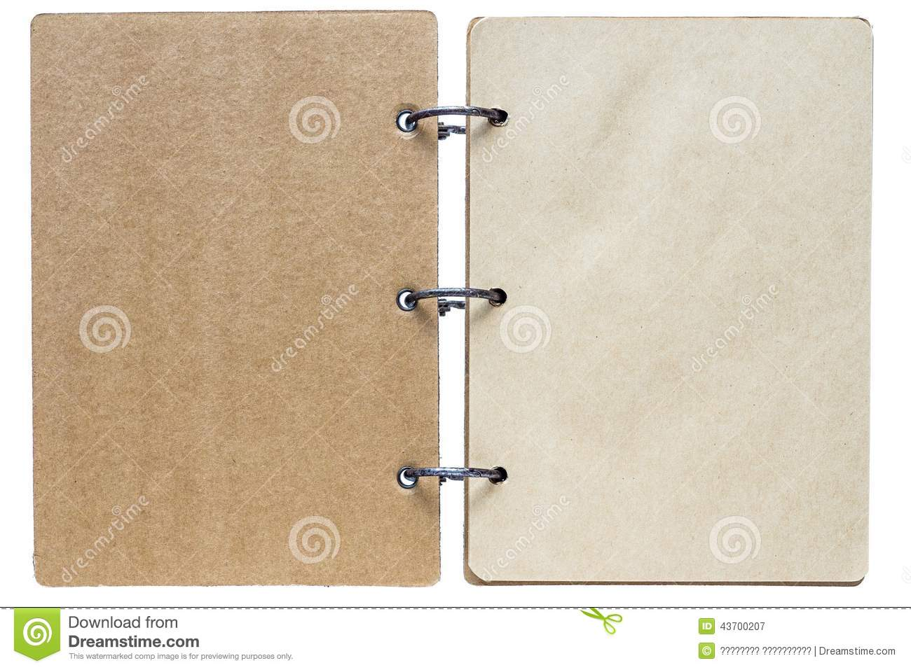 isolated notebook with pages brown color stock image image of