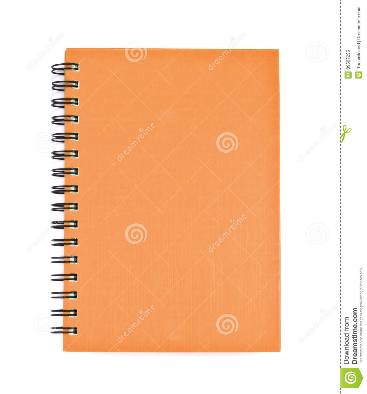 Isolated notebook on white.