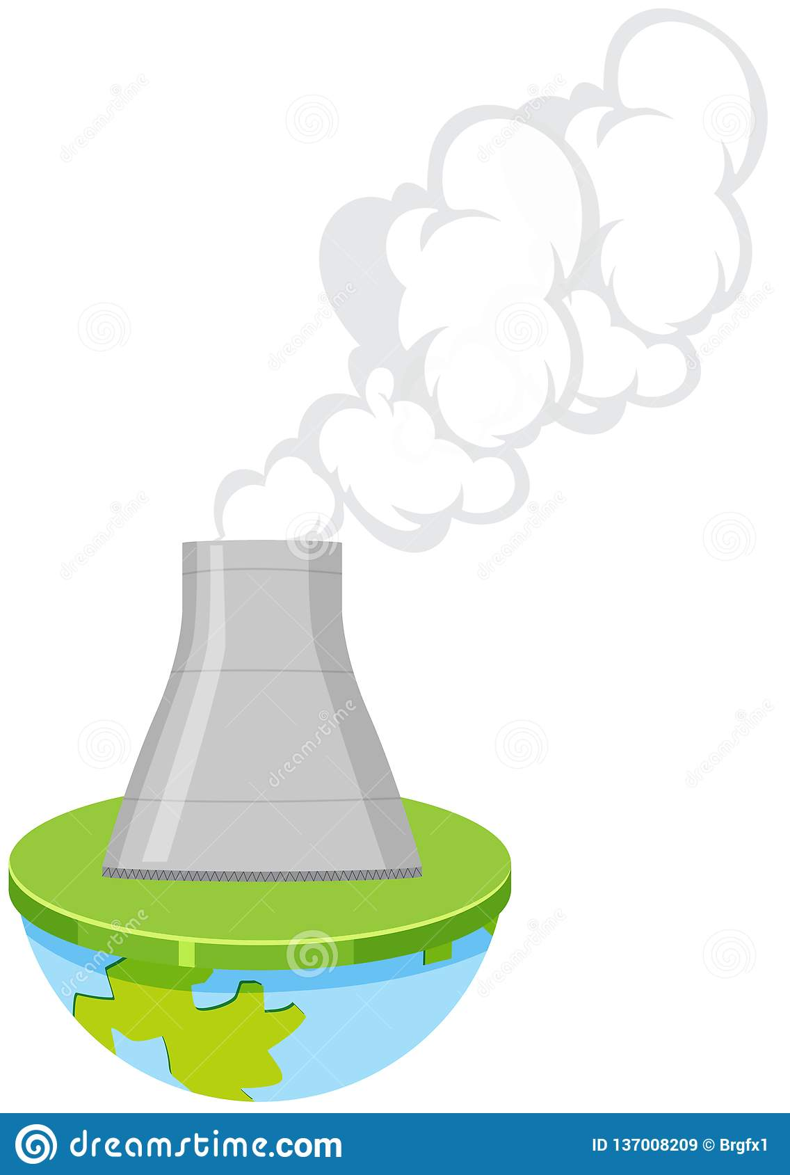 An Isolated Nuclear Power Plant Stock Vector Illustration Of Nuclear Clipart 137008209