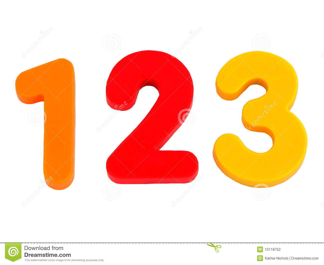 Isolated Numbers 1 2 3 Stock Photo Image Of Educate
